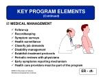key program elements continued