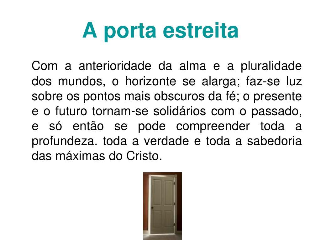 A porta estreita