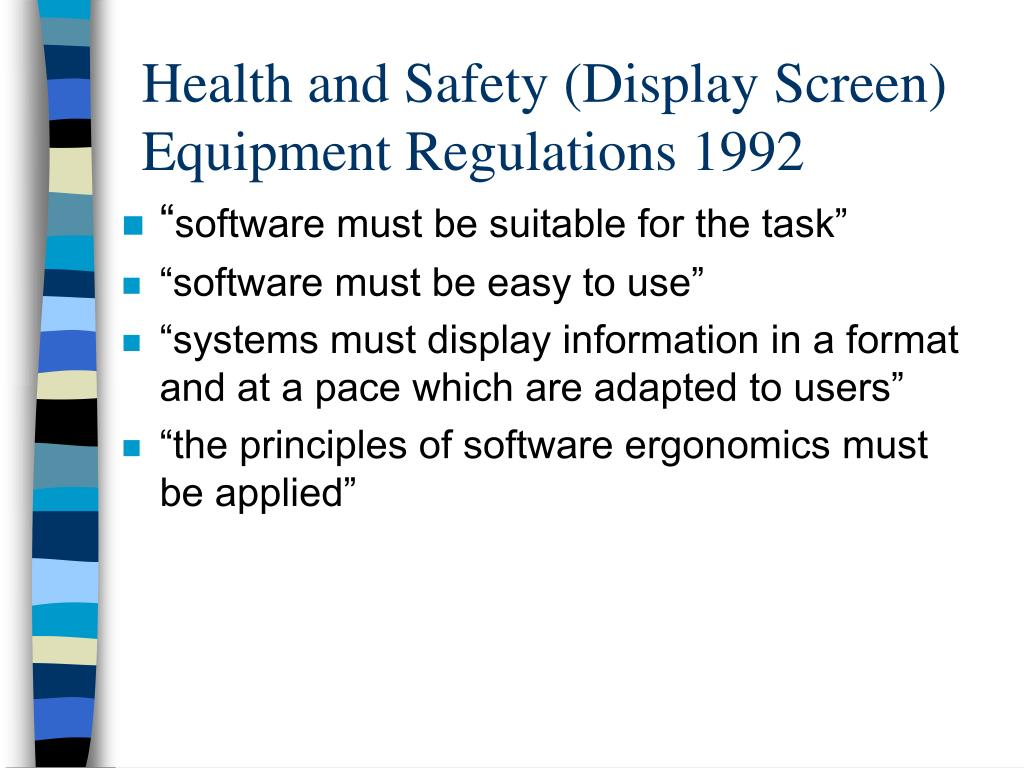 Health and Safety (Display Screen) Equipment Regulations 1992