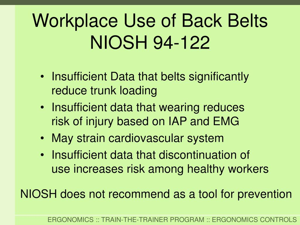 Insufficient Data that belts significantly