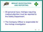 mishap investigation and reporting