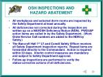 osh inspections and hazard abatement