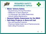 required safety awareness topics