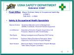 usna safety department extension 3 5667