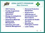 usna safety program major elements