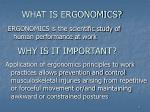 what is ergonomics