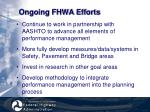 ongoing fhwa efforts30