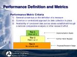 performance definition and metrics