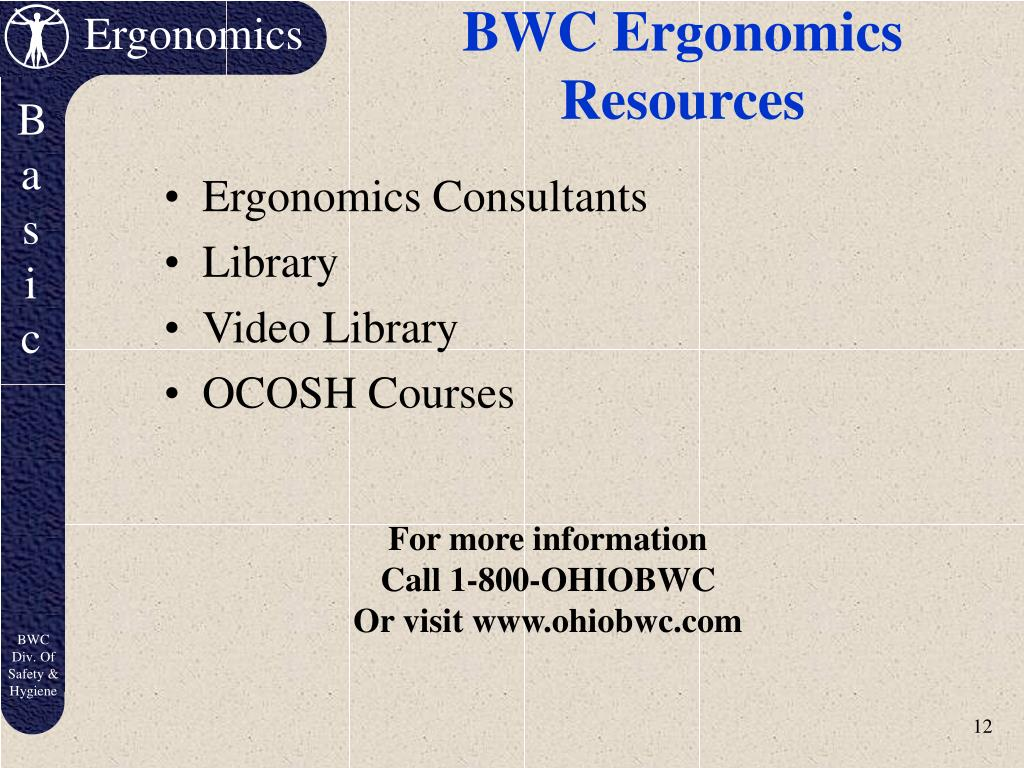 BWC Ergonomics Resources