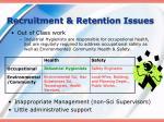 recruitment retention issues