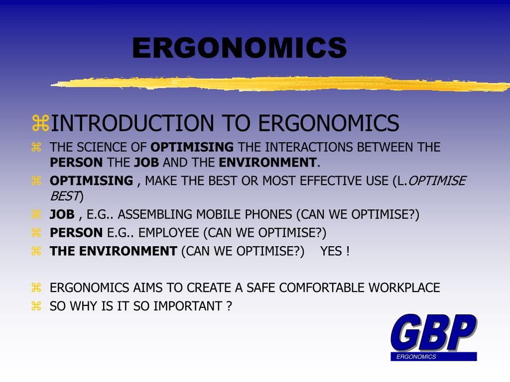 ergonomics l.
