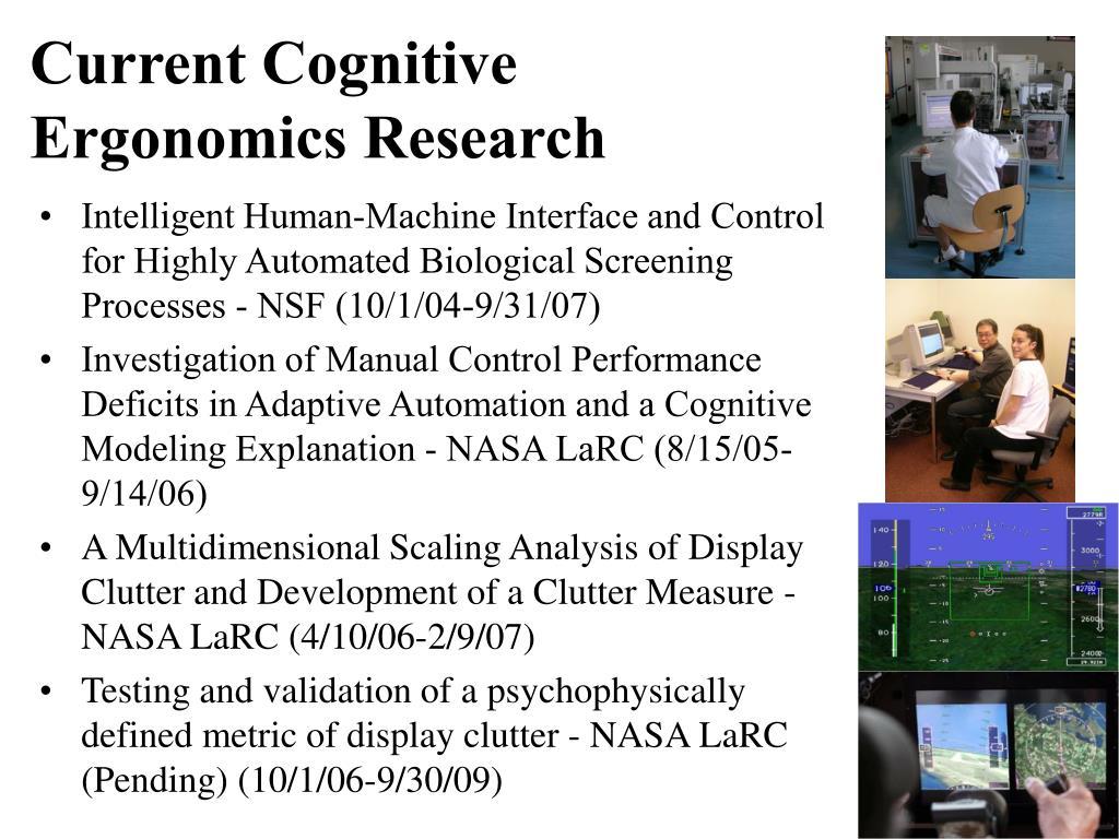 Current Cognitive Ergonomics Research