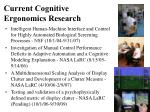 current cognitive ergonomics research