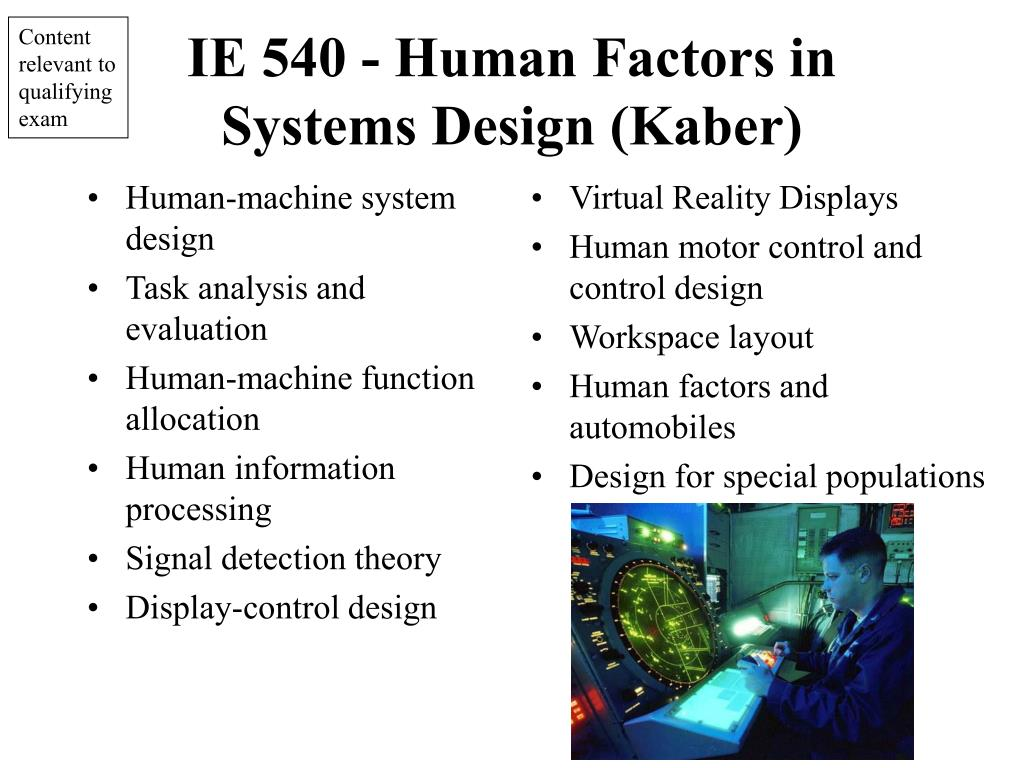 Human-machine system design