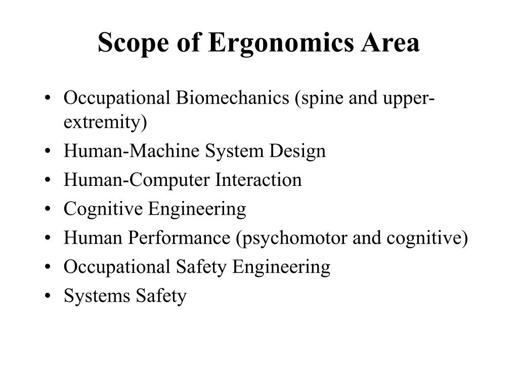 scope of ergonomics area l.