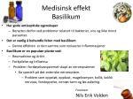 medisinsk effekt basilikum
