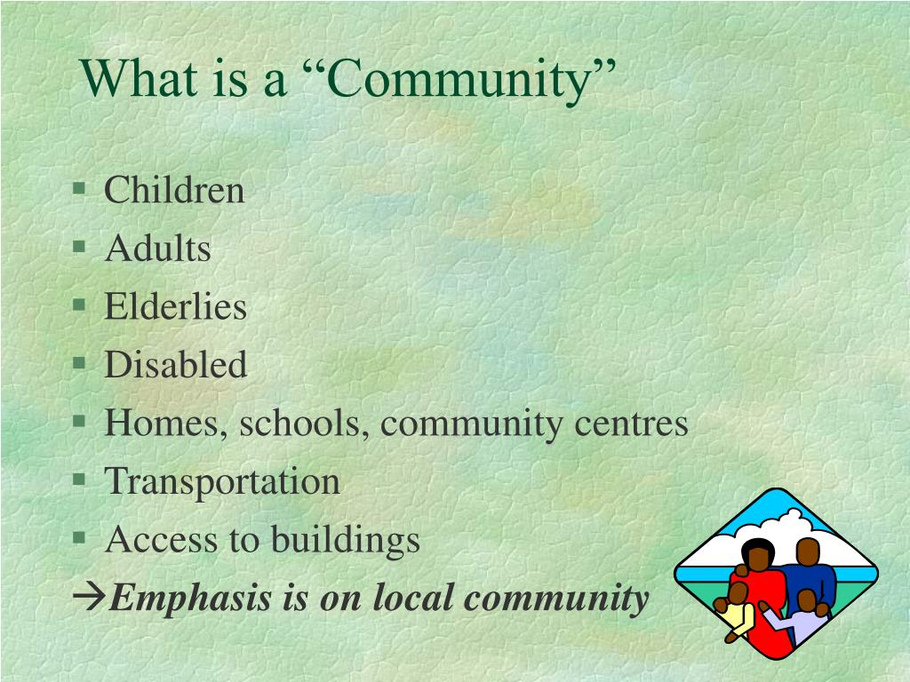 "What is a ""Community"""