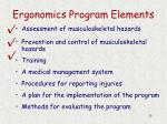ergonomics program elements