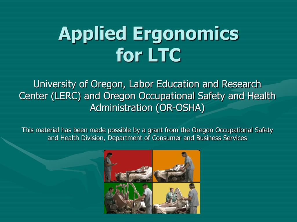 applied ergonomics for ltc l.