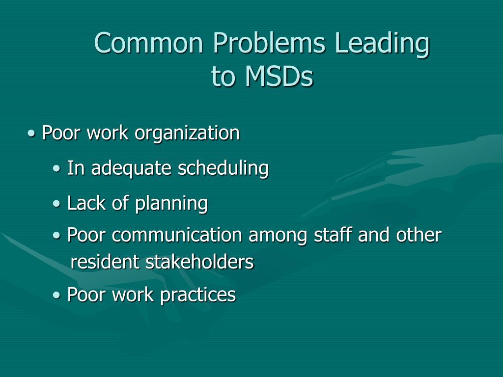 Common Problems Leading