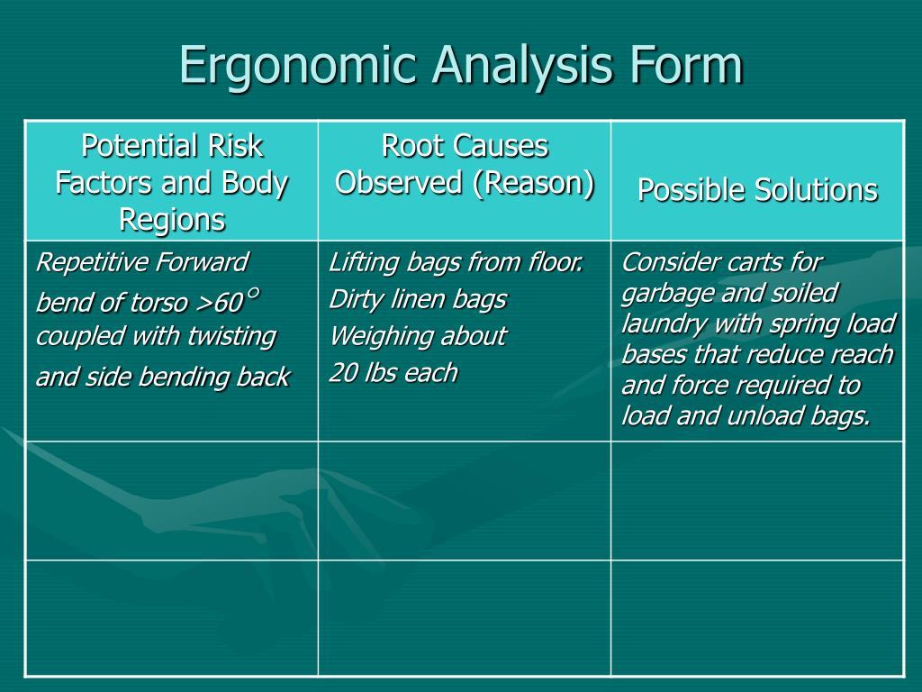 Ergonomic Analysis Form