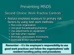 preventing msds24