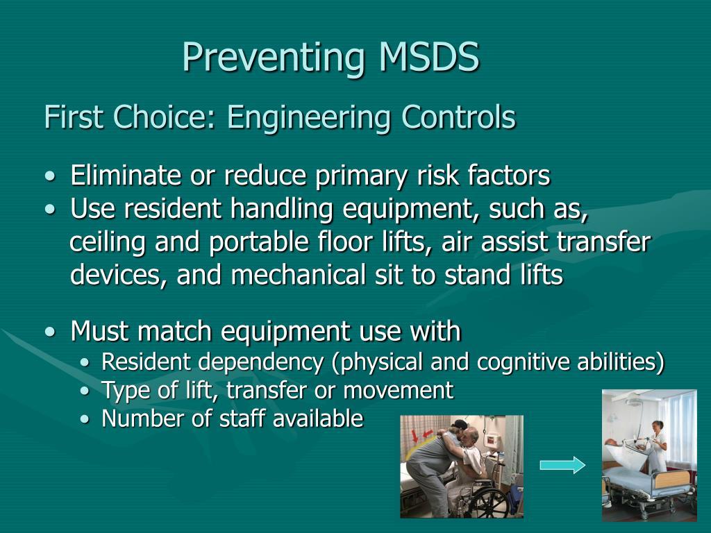 Preventing MSDS