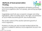 methods of food preservation pickling