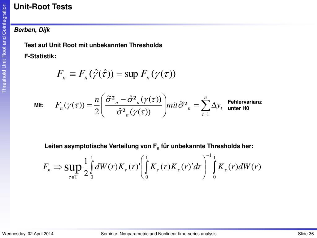 Unit-Root Tests