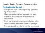 how to avoid product controversies24
