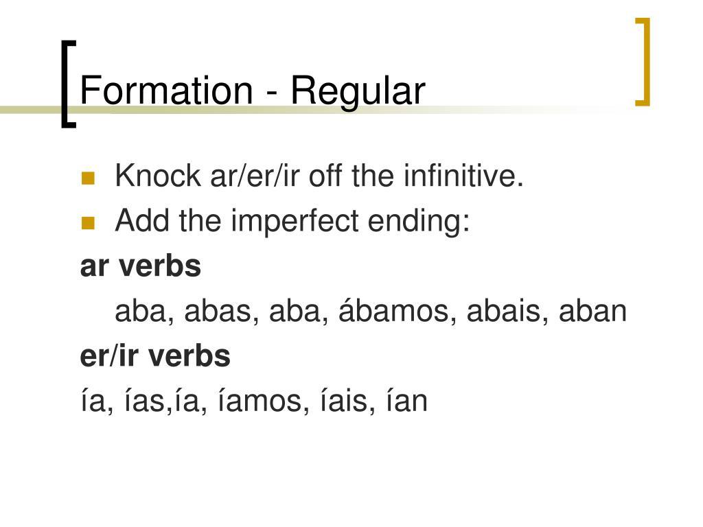 Formation - Regular