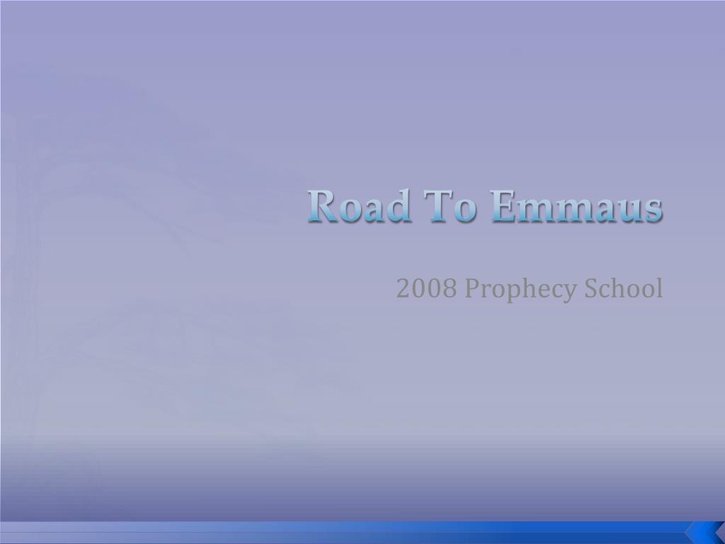 road to emmaus l.