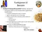 funksjonen til benzoin