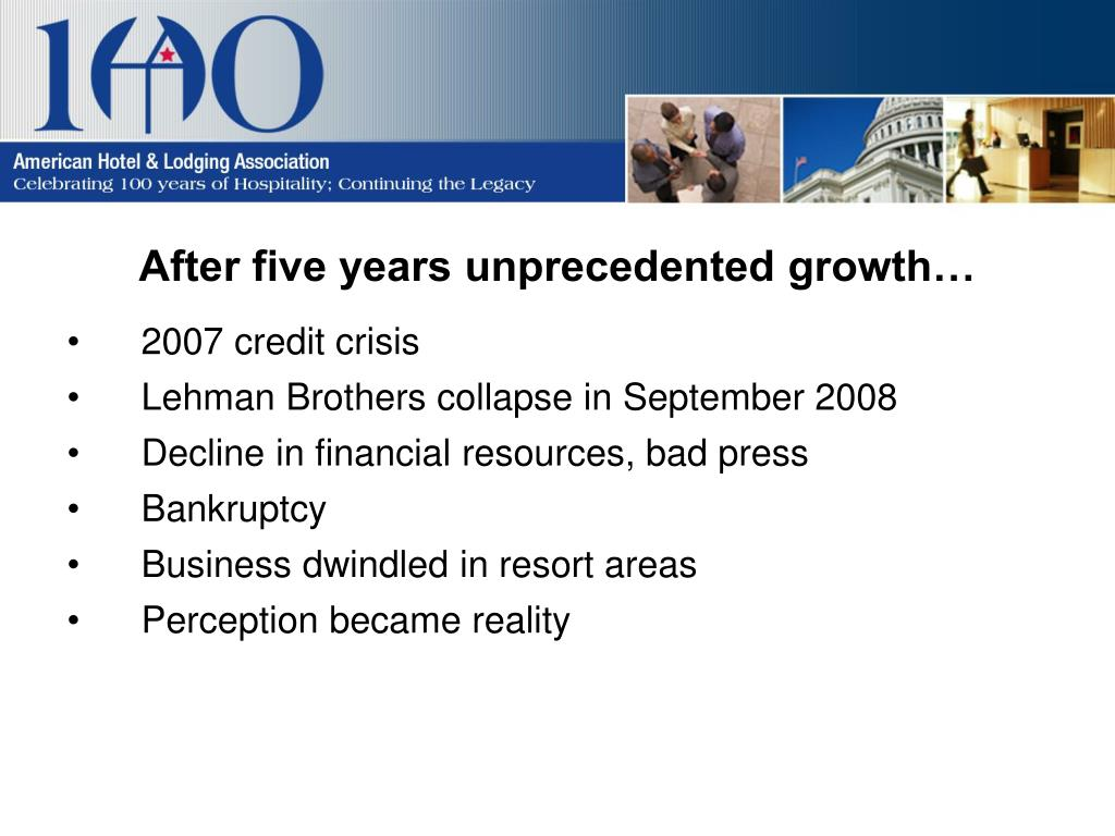 After five years unprecedented growth…