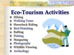 eco tourism activities