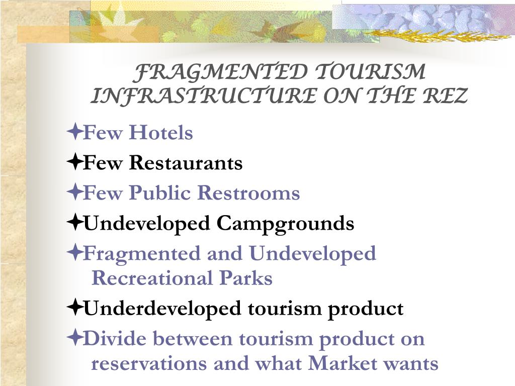 FRAGMENTED TOURISM INFRASTRUCTURE ON THE REZ