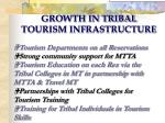 growth in tribal tourism infrastructure