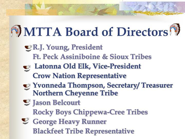 Mtta board of directors