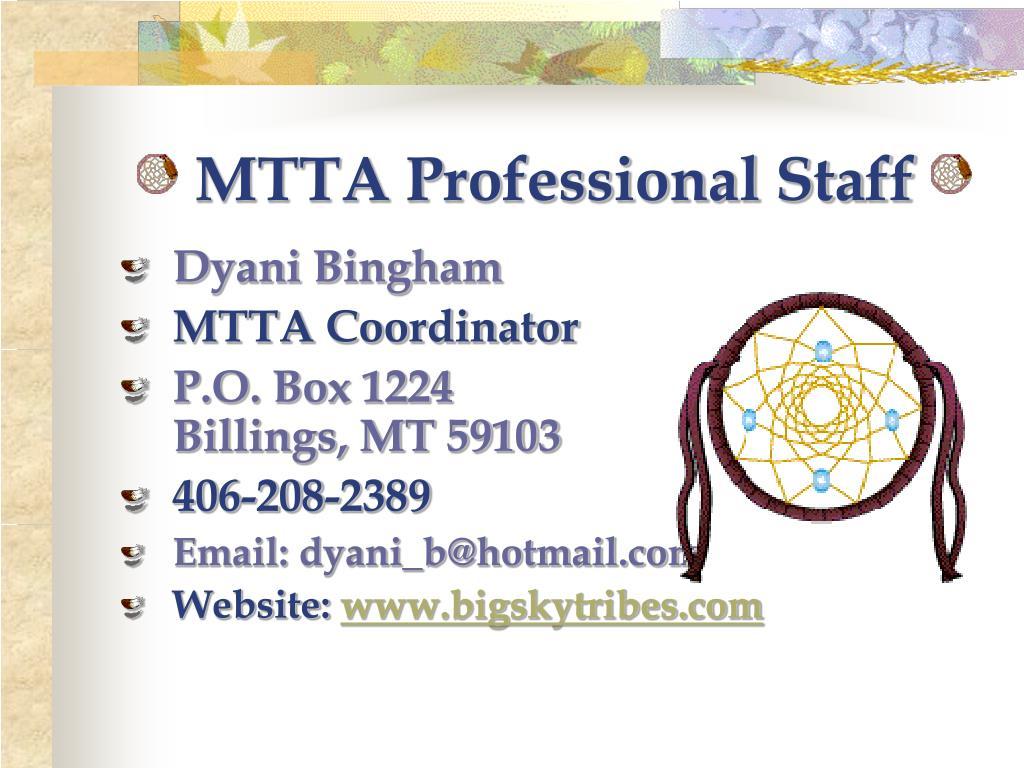 MTTA Professional Staff