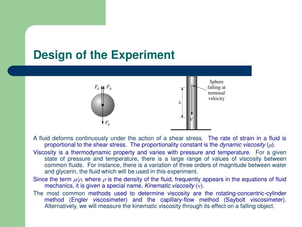 Design of the Experiment
