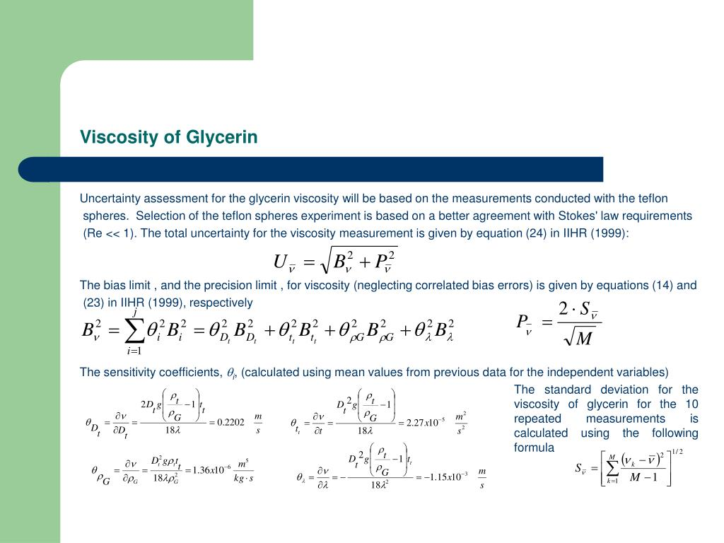Viscosity of Glycerin