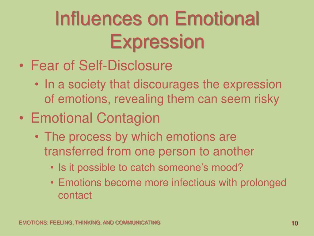 Influences on Emotional Expression