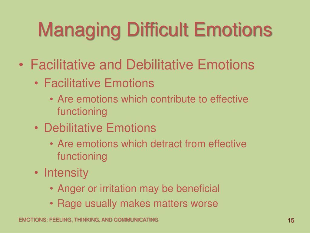 Managing Difficult Emotions