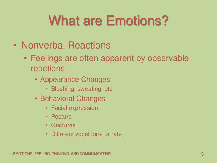 What are emotions3