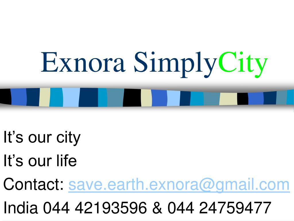 Exnora Simply