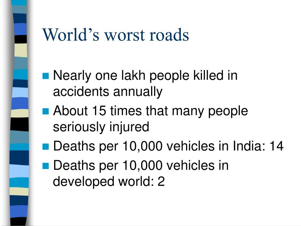 World's worst roads
