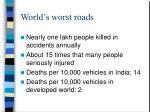 world s worst roads