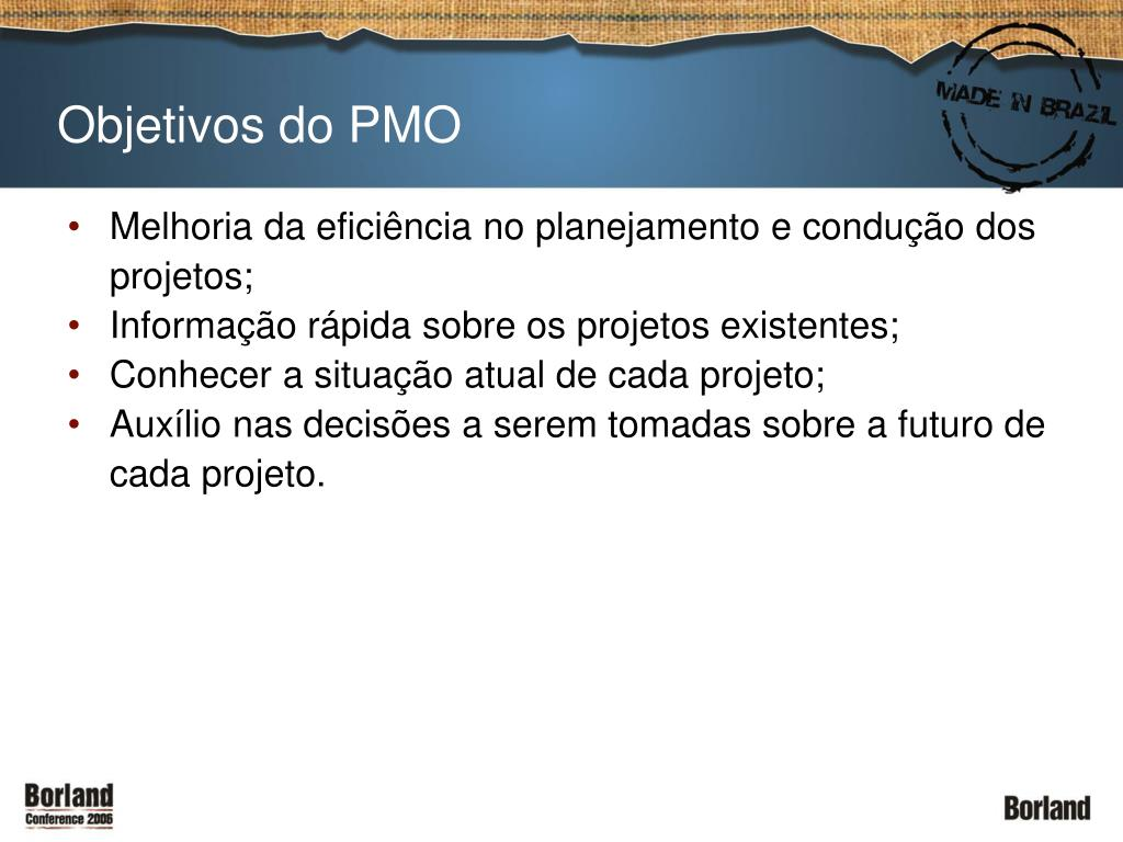 Objetivos do PMO