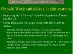 unpaid work subsidizes health systems
