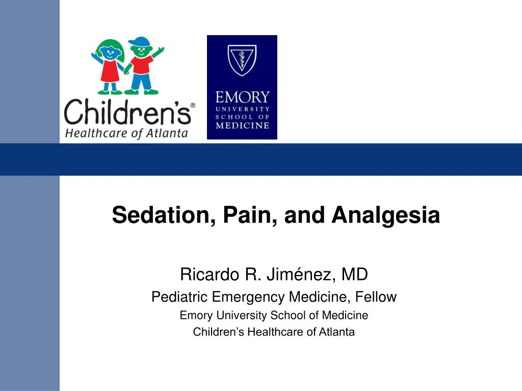 sedation pain and analgesia l.
